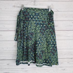Patagonia Skirt Sz Small Blue Green Ruched